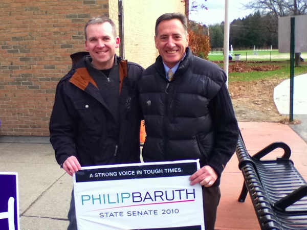 Peter Shumlin and me on Election Day 2010